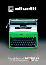 SALE!!! GREEN / SILVER OLIVETTI LETTERA 32- Vintage Working Typewriter