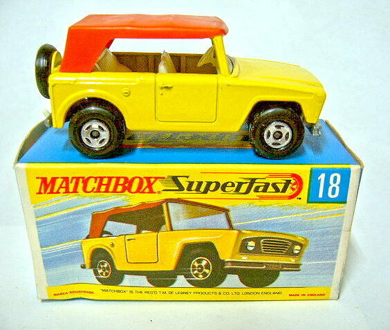 Matchbox Superfast No 18A Field Car 4 Spoke Wheels Top in  H  Box