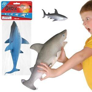 2-Ginormous-Grow-Shark-Grow-6x-Size-1-Gray-amp-1-Blue