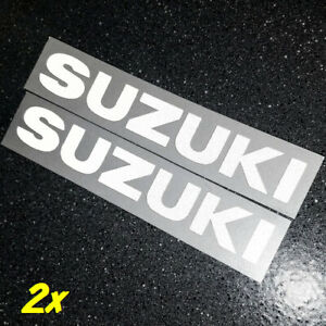 "Suzuki REFLECTIVE White 13"" 33cm decal 600 sticker gsxr 1000 srad 750 moto gp sv"