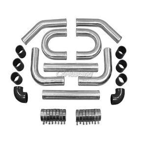 3-0-034-OD-Universal-Polished-Al-Intercooler-Piping-Kit-DIY-3-0-Inch-Black-Hose
