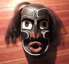 Native American Carved Wood Paint Decorated Mask Coast Salish Kwagiulth Victoria