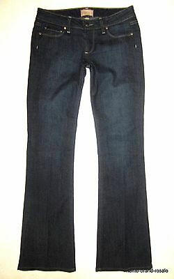 PAIGE PREMIUM DENIM JEANS Womens 27 x 32 CANYON BOOT Dark Indigo Wash Bootcut