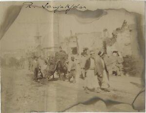 Siria-Damas-Calle-Sanjakdar-Calle-Animada-Ruinas-Foto-Vintage-Citrato-8x10-3-CM