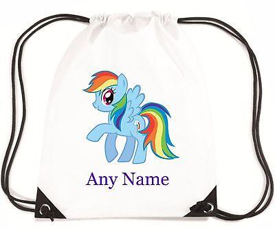 Blu Personalizzato My Little Pony Stile Pe/nuoto/scuola Borsa-mayzie Designs ®-hool Bag - Mayzie Designs® It-it Ritardare La Senilità