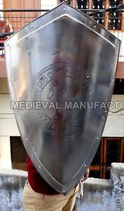 Medieval-KNIGHT-Shield-Handcrafted-Battle-Armor-Medieval Shield Use Halloween