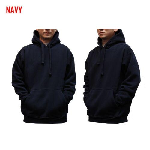 BIG AND TALL MEN Hooded Plain Black Sweatshirt Pullover Hoodie Fleece Blank