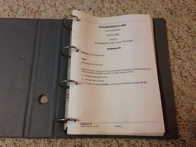 2002 Porsche Boxster Electrical Wiring Diagrams Manual S