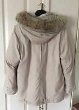 Off-white Cortland Winter Hooded puffer Jacket,Genuine Coyote  Fur trim SZ SP