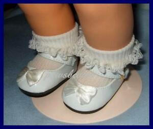 White Patent Mary Jane Shoes fits American Girl Doll