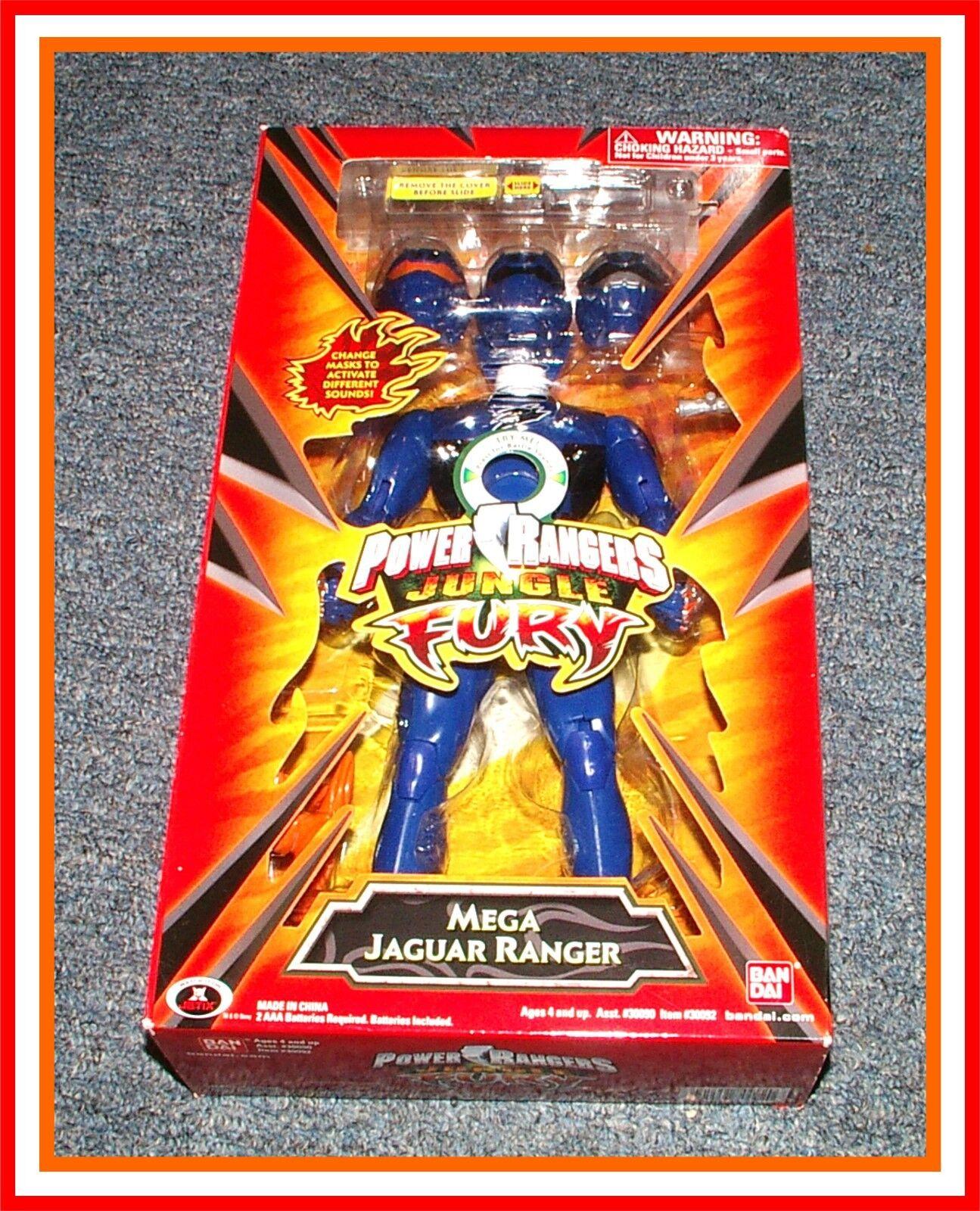 Power rangers dschungel wut _ 12  _ mega - blauen jaguar - actionfigur   puppe