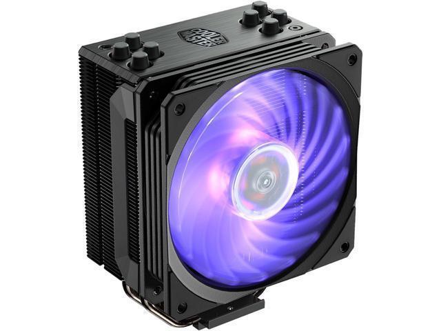 Cooler Master Hyper 212 RGB Black Edition CPU Air Cooler, 4 Direct Contact Heatp