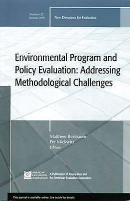 1 of 1 - Environmental Program and Policy Evaluation: Addressing Methodological-ExLibrary
