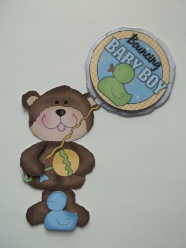 BA8 New Baby Girl Boy Arrival Bear Scrapbook Card Embellishment U Pick 3D