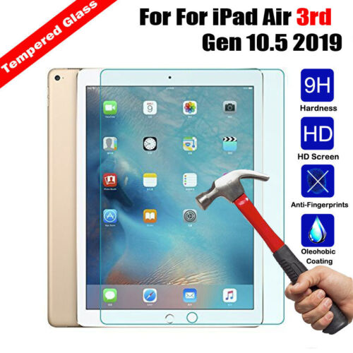New Premium Tempered Glass Screen Protector Cover For iPad Air 3rd Gen 10.5 2019