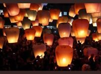 SKY FLYING FIRE LANTERN CHINESE UFO BALLOON FLOATING WEDDING MING Orange UK SELL