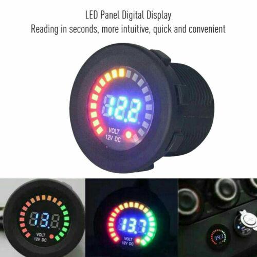 FXC DC 12V LED Panel Digital Voltage Meter Display Voltmeter for Car Motorcycle