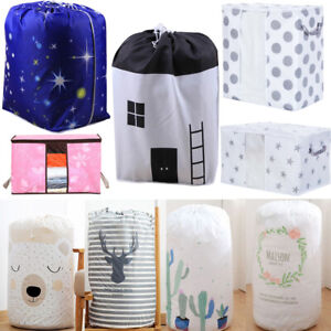 Foldable-Storage-Bag-Clothes-Blanket-Quilt-Closet-Sweater-Organizer-Box-Pouches