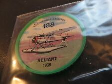 1961 JELL-O HOSTESS AIRPLANE SERIES COIN #138 1936 RELIANT  HIGH GRADE