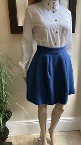 Vivienne-Westwood-Red-Label-Deep-Blue-Criniscule-Wool-Skirt-38-UK8