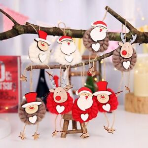 3PCS-Lovely-Christmas-Party-Hanging-Decor-Santa-Claus-Snowman-Xmas-Ornaments-HOT