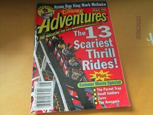 Disney Adventures V8#10 8'98 Magazine  Kids Mark McGwire 13 thrill rides book