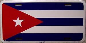 Aluminum-National-Flag-Cuba-License-Plate-NEW
