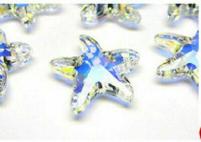 1pc Swarovski ® 16mm AB Crystal Starfish Pendant