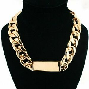 Celebrity-Style-Chunky-Gold-Lightweight-ID-Statement-Chain-Link-Necklace-UK