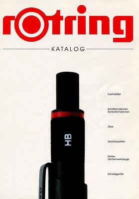 VINTAGE ROTRING 1990 PEN PENCIL CATALOG PDF FORMAT