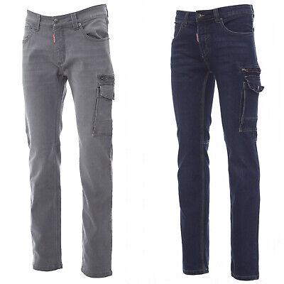 CHEMAGLIETTE Pantaloni da Lavoro Uomo Jeans Elasticizzati con Tasconi Laterali Payper West