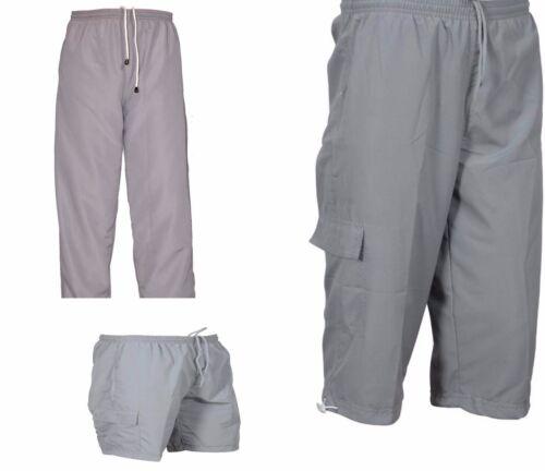 Set of 3 Men Jogging Sports Tracksuit Bottoms Trouser 3//4 /& Short Jogger Casual