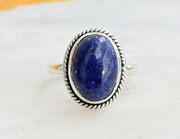 STERLING SILVER STATEMENT LAPIS LAZULI STONE GEMSTONE RING ANY SIZE  8 9 10