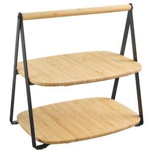 IKEA-Bambus-Tablett-Holz-Servierplatten-Tablett-Deko-Dessertteller-Obstteller