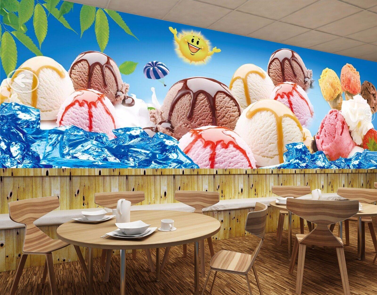 3D Summer Ice Cream 935 Wallpaper Mural Paper Wall Print Wallpaper Murals UK
