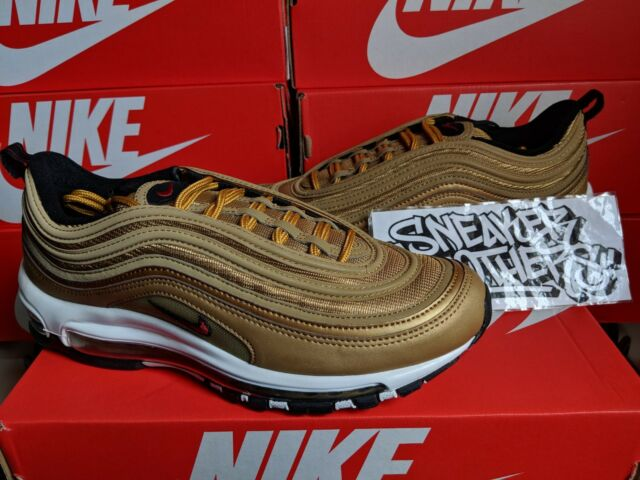 1d4be1ccfd Nike Air Max 97 OG QS 2018 Metallic Gold Varsity Red Bullet Running  884421-700