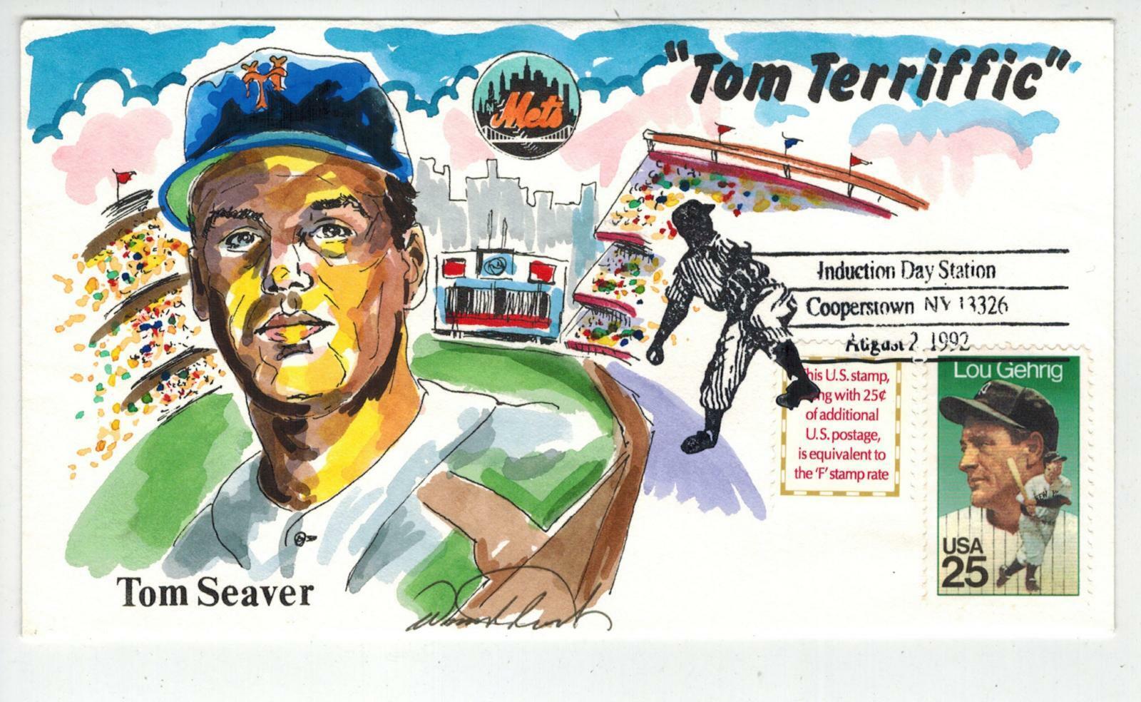 Handpainted Baseball Event TOM SEAVER NY METS By WILDHORSE Cooperstown HOF