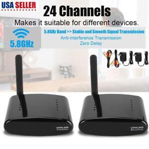 Image Is Loading 24 Channel 5 8GHz AV Wireless Transmitter Receiver