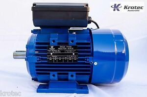 Electric-motor-single-phase-240v-1-1kw-1-5hp-1400rpm