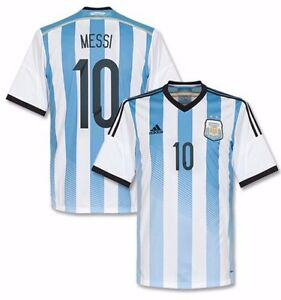 d5ac601b8 ADIDAS LIONEL MESSI ARGENTINA HOME JERSEY FIFA WORLD CUP BRAZIL 2014 ...