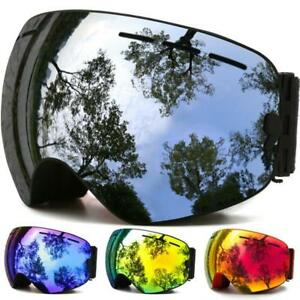 929b28fecb2 Adult Skiing Snowboarding Goggles Double Lens Anti-fog UV Snow Men s ...