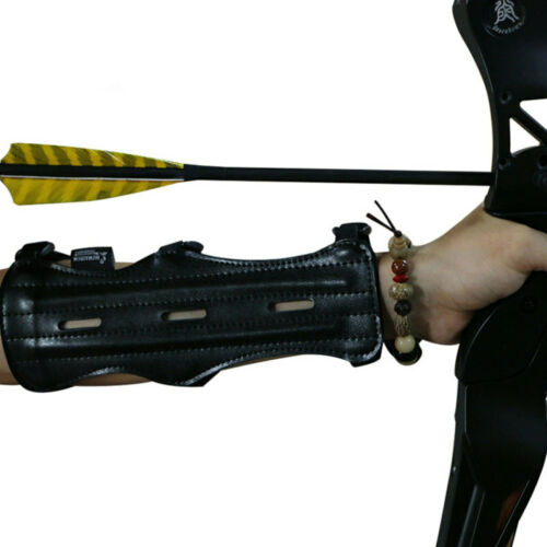 PU Leather Shooting Hunting Archery Arm Guard Arm Protective Gear Outdoor
