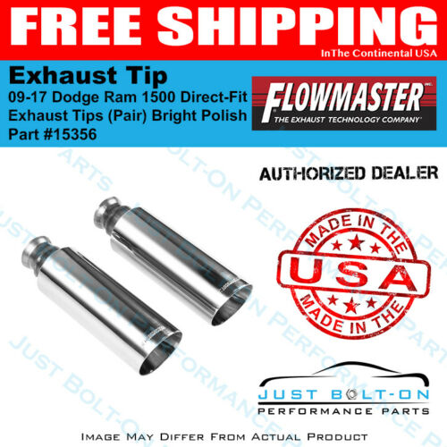 Flowmaster Tip 09-18 Ram 1500 Direct-Fit Tips Pair Bright Polish 4in #15356