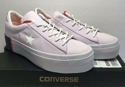 Converse Women Sz 8.5 One Star Platform OX Barely Grape Rush Coral White 559902C 888755246269   eBay