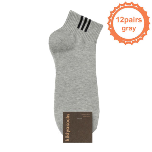 KIKIYA Men/'s Solid Ankle Socks Casual Fashion Short Low Cut Cotton Lot Quarter