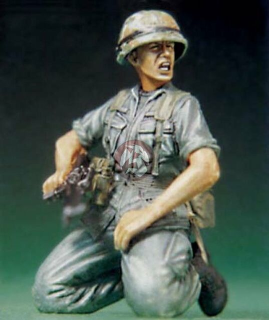Legend 1/35 US Soldier at Vietnam War Shouting [Resin Figure Model kit] LF0074