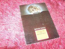 Catalogue  / Brochure ROVER 2000 1971 / 1972 //