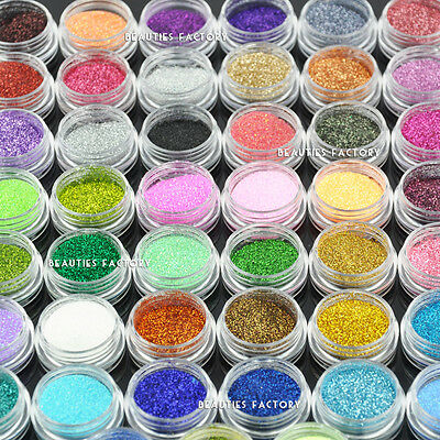 45pcs Fine Nail Art Glitter Dust Powder Nail Art Decoration Value Pack #598