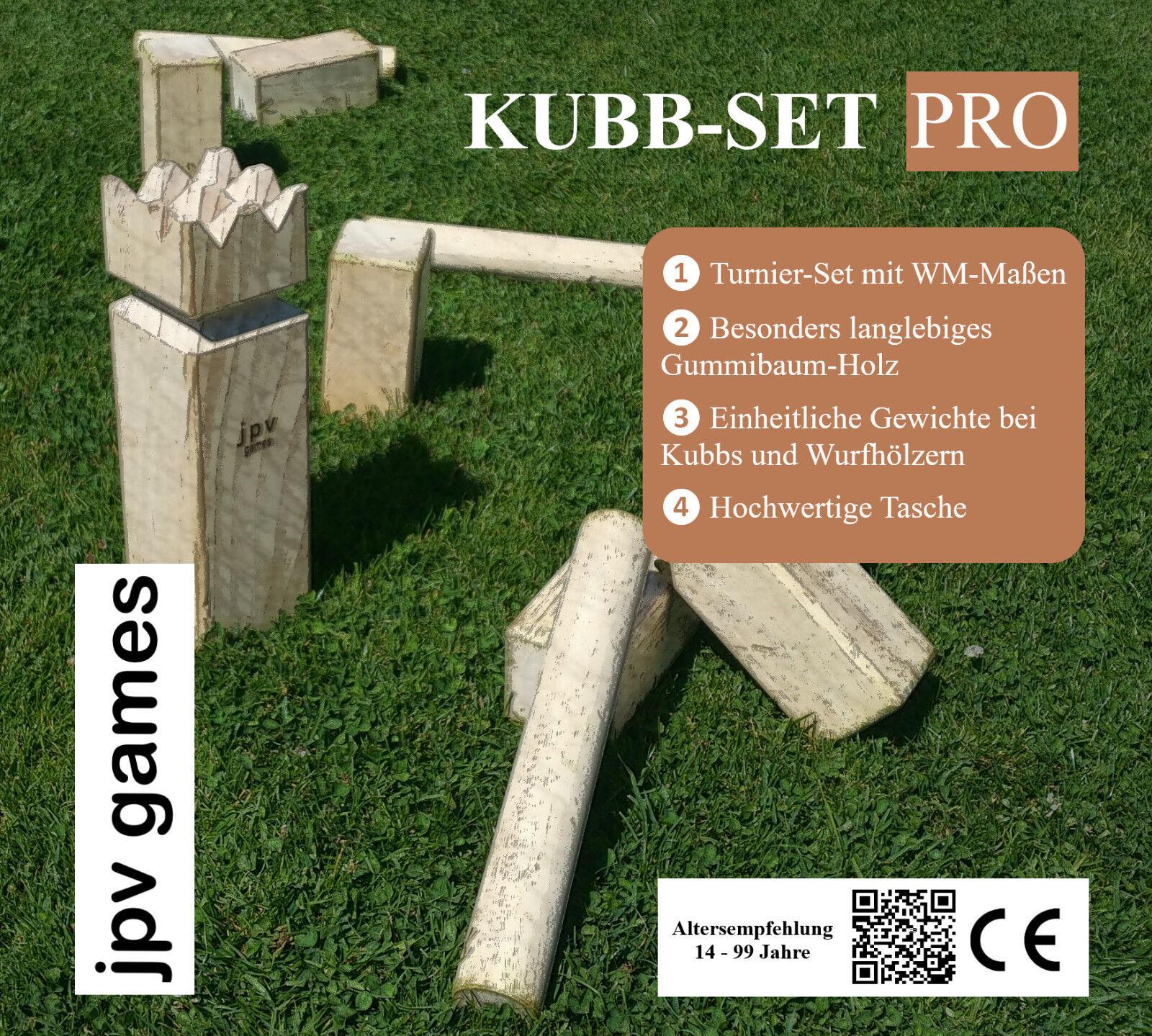 Kubb Wikingerspiel WM-Größe WM-Größe WM-Größe 7x7x15 jpv games langlebiges Gummibaum-Holz 7bd606