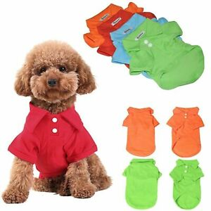 New-Summer-Casual-Pet-Dog-Puppy-Cute-POLO-T-Shirt-Cotton-Apparel-Clothes-Shirt